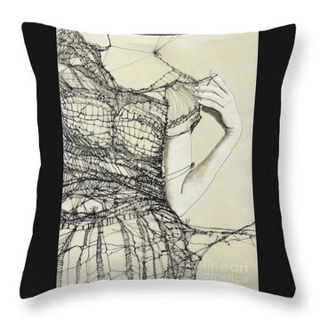 Unravel #2 Throw Pillow