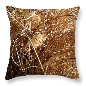 Throw Pillow featuring the photograph Unruly Curls by Lena Wilhite
