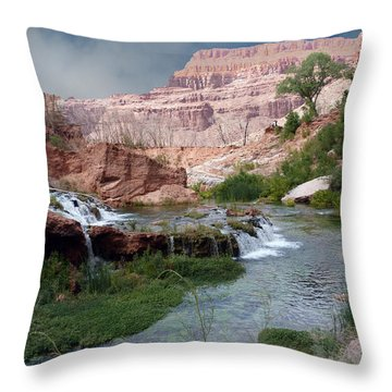 Unspoiled Waterfall Throw Pillow