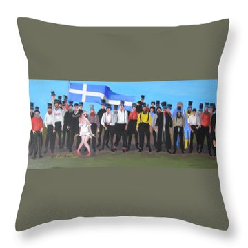 Unst Mail Voice Choir World Tour Throw Pillow by Eric Burgess-Ray