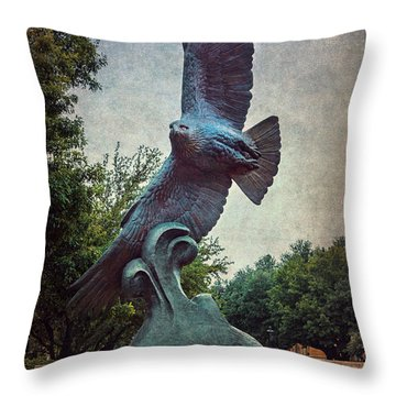 Unt Eagle In High Places Throw Pillow