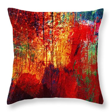 Untamed Colors  Throw Pillow