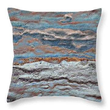 Untamed Sea 1 Throw Pillow by Carol Cavalaris