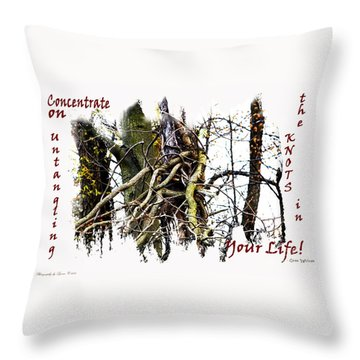 Untangle Your Knots Throw Pillow
