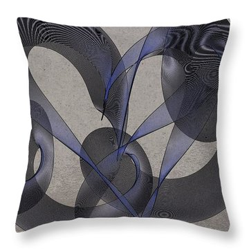 Untangled Hearts Throw Pillow