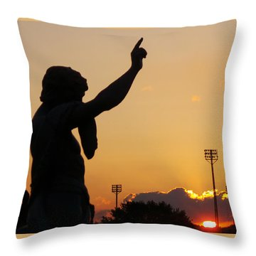 Cemetery Sunset Throw Pillow