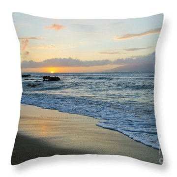 Throw Pillow featuring the photograph Until Tomorrow by Suzette Kallen