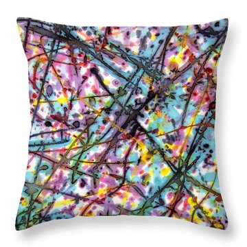 The Mural Goes On And On Throw Pillow