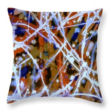 Autumn Rhythm Throw Pillow