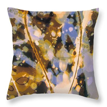Champagne Sunday Throw Pillow