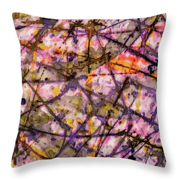 The Shock Department Throw Pillow
