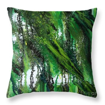 Forest Of Duars Throw Pillow