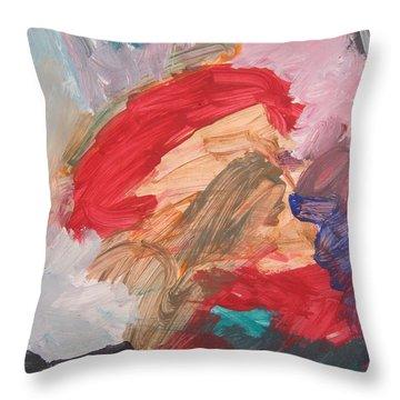 Untitled #56  Original Painting Throw Pillow