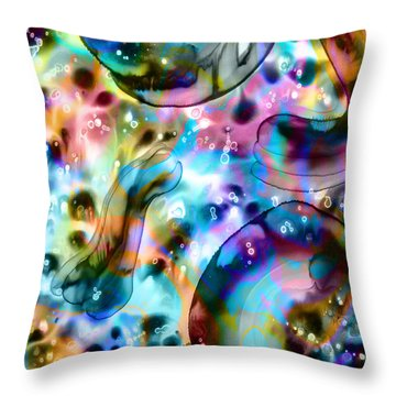 Molecules And Mankind Throw Pillow