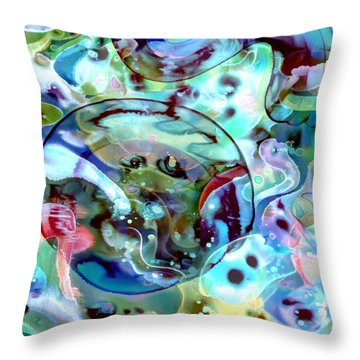 Crystal Blue Persuasion Throw Pillow