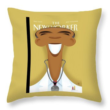 New Yorker July 9th, 2012 Throw Pillow