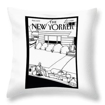 New Yorker May 3rd, 2010 Throw Pillow