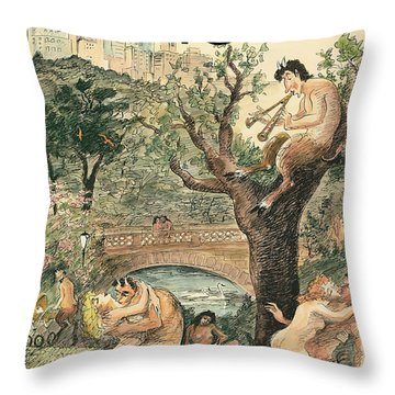 New Yorker April 12th, 2010 Throw Pillow