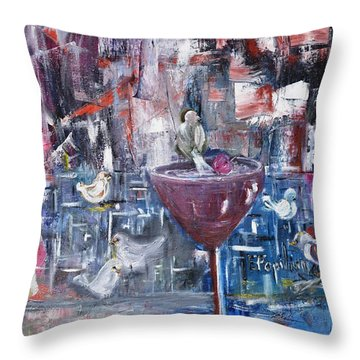 Untitled Throw Pillow by Evelina Popilian