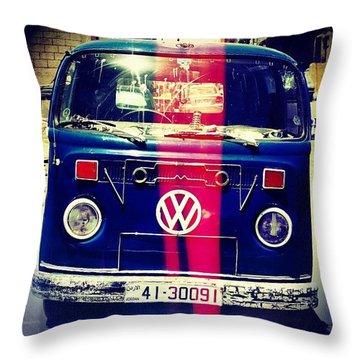 Microbus Throw Pillows