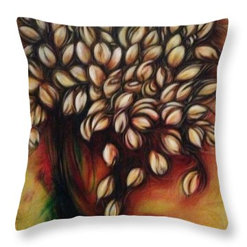 Untitled Floral Gift Throw Pillow by Juliann Sweet