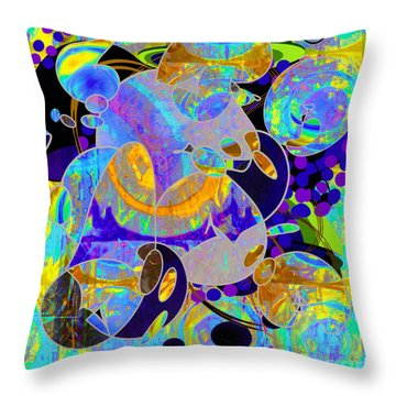 Throw Pillow featuring the digital art Untitled  by Gabrielle Schertz