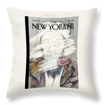 New Yorker May 16th, 2011 Throw Pillow