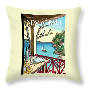 New Yorker April 18th, 2011 Throw Pillow