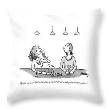 By The Way, The Health Benefits Of A Glass Throw Pillow