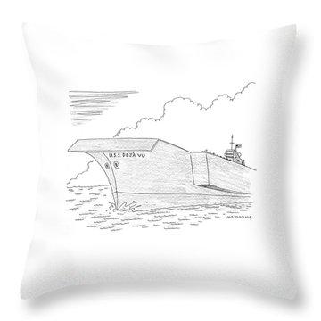 U.s.s. Deja Vu Throw Pillow by Mick Stevens