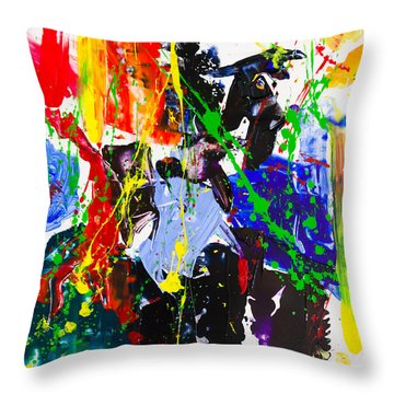 Untitled Number Twenty Three Throw Pillow
