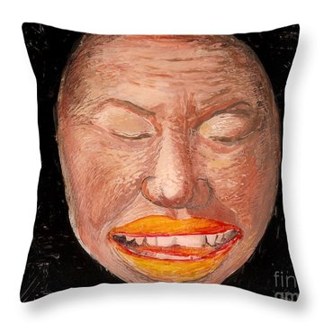 Throw Pillow featuring the painting Untitled One by Anna Skaradzinska
