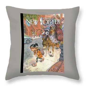 New Yorker September 13th, 2010 Throw Pillow
