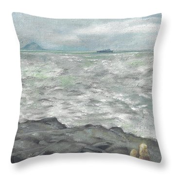 Untitled Seascape Throw Pillow