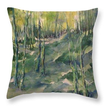 Untitled Swamp  Throw Pillow