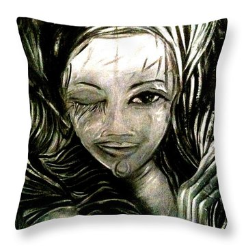 Untitled -the Seer Throw Pillow by Juliann Sweet