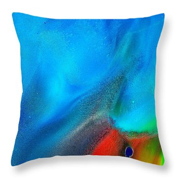 Throw Pillow featuring the painting Untitled You by Christine Ricker Brandt