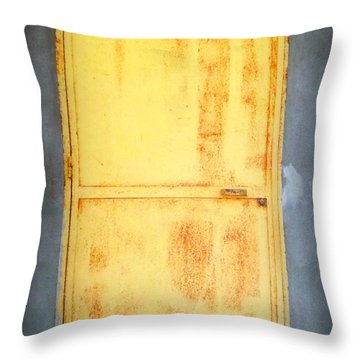 Throw Pillow featuring the photograph Unused Door by Clare Bevan