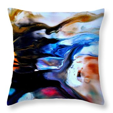 Unusually Unafraid Throw Pillow by Christine Ricker Brandt