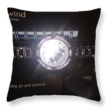 Unwind - Let Go Throw Pillow