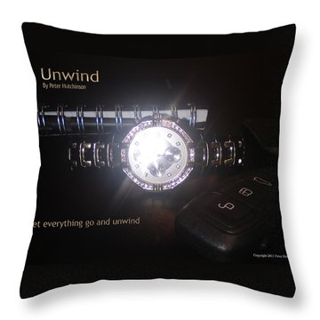 Unwind - Let Go Throw Pillow