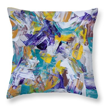 Throw Pillow featuring the painting Unwinding by Heidi Smith