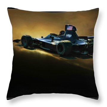 Uop Shadow F1 Car Throw Pillow