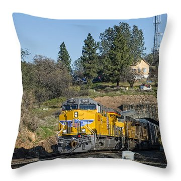 Up 8267 Throw Pillow by Jim Thompson