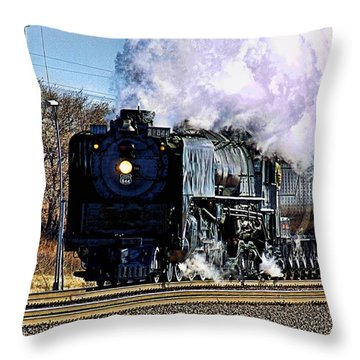 Throw Pillow featuring the photograph Up 844 Movin' On by Bill Kesler