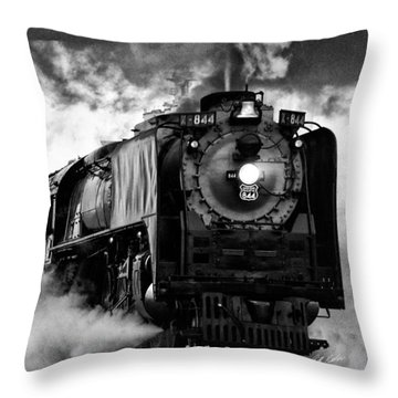 Throw Pillow featuring the photograph Up 844 Steaming It Up by Bill Kesler