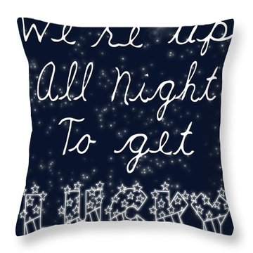 Up All Night Throw Pillow by Pati Photography