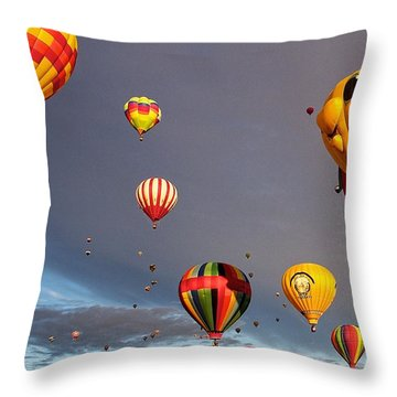 Throw Pillow featuring the photograph Up And Away by Dave Files