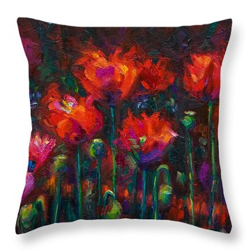Up From The Ashes Throw Pillow by Talya Johnson