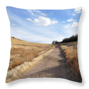 Up Hill Throw Pillow